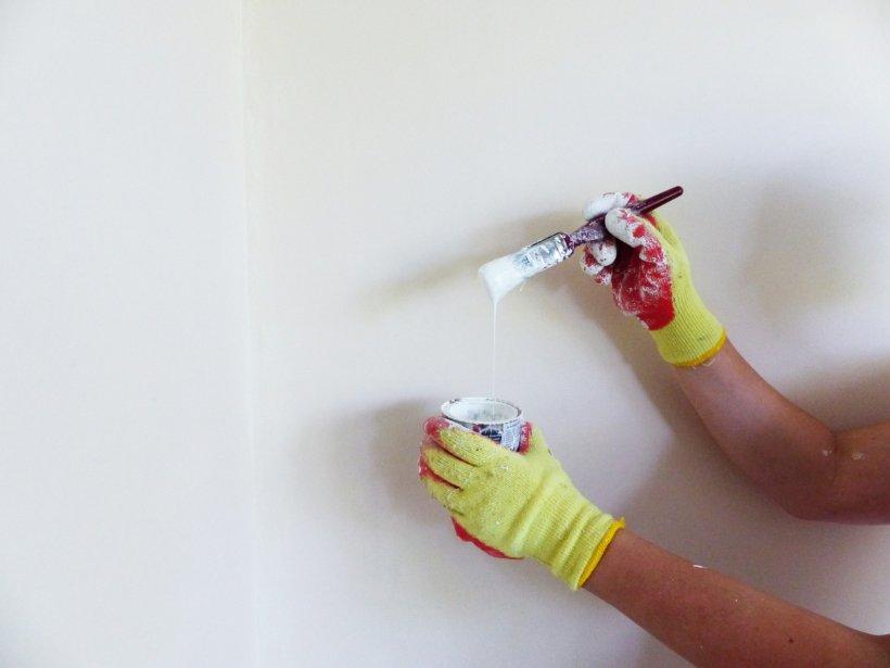 peinture pinceau mur